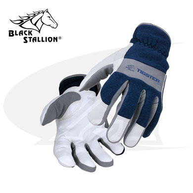 Click to see larger version of TIGster Premium Flame Resistant, Kidskin TIG Welding Gloves