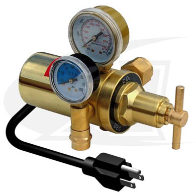 Click to see larger version of Co2 Heated Flow Meter/Flow Gauge - 115V U.S. Style
