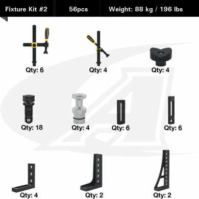 Click to see larger version of Fixture Kit #2 for Siegmund System 28 Tables