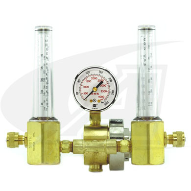Click to see larger version of Smith® Dual Flowmeter/Regulator
