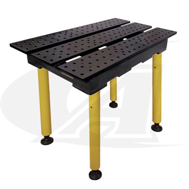 Click to see larger version of BuildPro™ 2\' (0.56m) x 3\' Welding Table - Nitride Finish