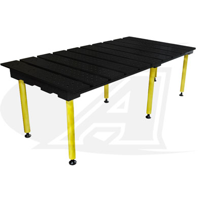 Click to see larger version of BuildPro™ 6.5\' (1.98m) x 3\' Welding Table - Nitride Finish