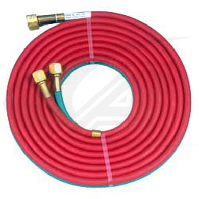"Click to see larger version of 1/4"" - T Grade Oxy-Fuel B-B Twin Hose"