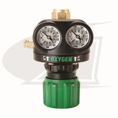 Click to see larger version of Heavy Duty Edge Series Single Stage Oxygen Regulator - CGA540