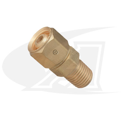 "Click to see larger version of Acetylene/Fuel Gas Adapter - ""A\"" Size Female to 1/4\"" NPT Male"
