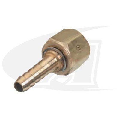 "Click to see larger version of Acetylene/Fuel Gas Adapter- ""A\"" Size Female to 1/4\"" ID Hose Barb"