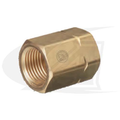Click to see larger version of CGA-300 to CGA-510 Cylinder Adapter -- Single Piece