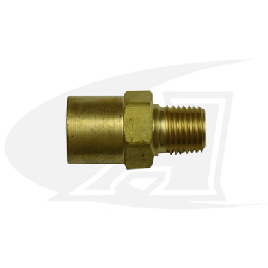 "Click to see larger version of Inert Gas Adapter- ""B\"" Size Female to 1/4\"" NPT Male"