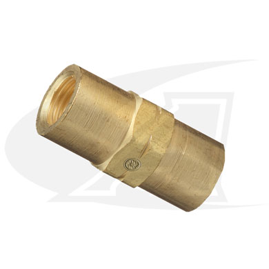 "Click to see larger version of Water/Industrial Air Coupler ""C\"" 7/8\""x14 LH Female-to-Female"