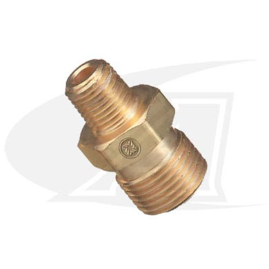"Click to see larger version of Acetylene/Fuel Gas Coupler - ""A\"" Size Male to \""B\"" Size Male"