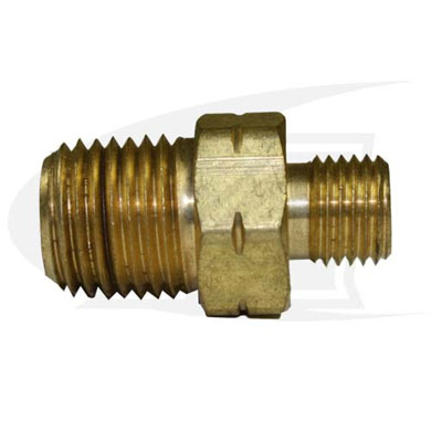 "Click to see larger version of Acetylene/Fuel Gas Adapter - ""A\"" Size Male to 1/8\"" NPT Male"