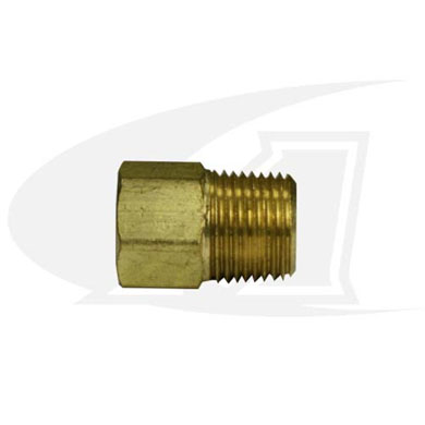 "Click to see larger version of Bushing, 3/8"" NPT Male-to-1/4\"" NPT Female"