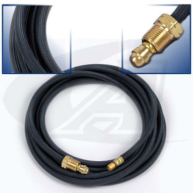 Click to see larger version of 12.5\' (3.8m) Rubber Water Hose