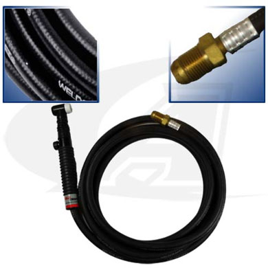 Click to see larger version of Flexible Torch Pkg, W/Valve & 12.5\' One-Piece Rubber Cable