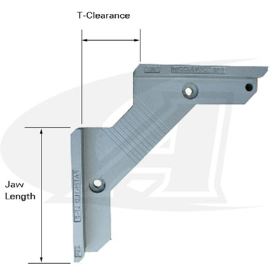 Click to see larger version of Aluminum 90° True-Angle Mounting Bracket