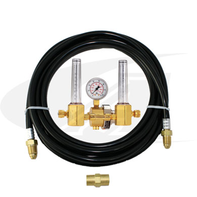 Click to see larger version of Smith® Dual Flowmeter/Regulator w/ Purge Gas Hose Kit