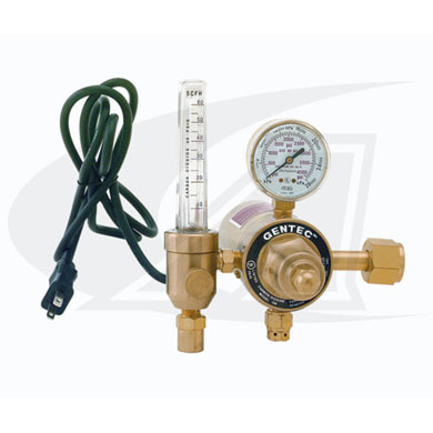 Click to see larger version of Premium Heated Co2 Flowmeter/Regulator - 115V U.S. Style