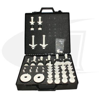 "Click to see larger version of Nylon Purge Plug Kit, For Diameters 0.5"" (13mm) - 4.0\"" (101.6mm)"