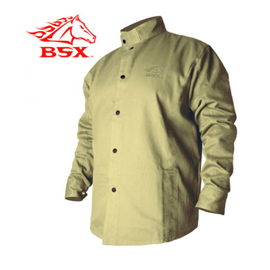 Click to see larger version of Stryker™ Flame Resistant Welding Jacket - Khaki