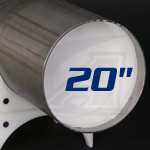 "Click to see larger version of PGE-EZP-20, 20"" Pre-Formed Soluble Paper Dams"