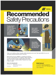 Welding Safety Poster from ESAB