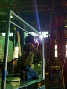 Aleasha Hladilek, welding