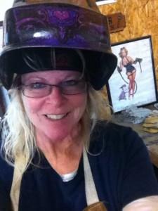 Debra Montgomery, woman welder