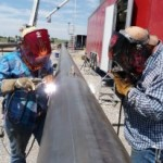 Mandy and Brandon: the couple who welds together stays together!