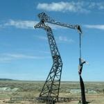 Welded Crane for Burning Man