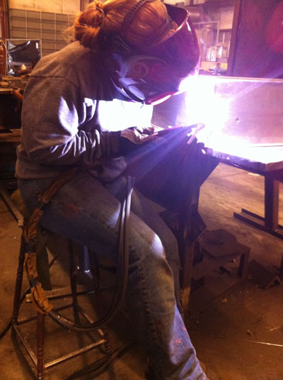 Danielle: Woman Welder at Work