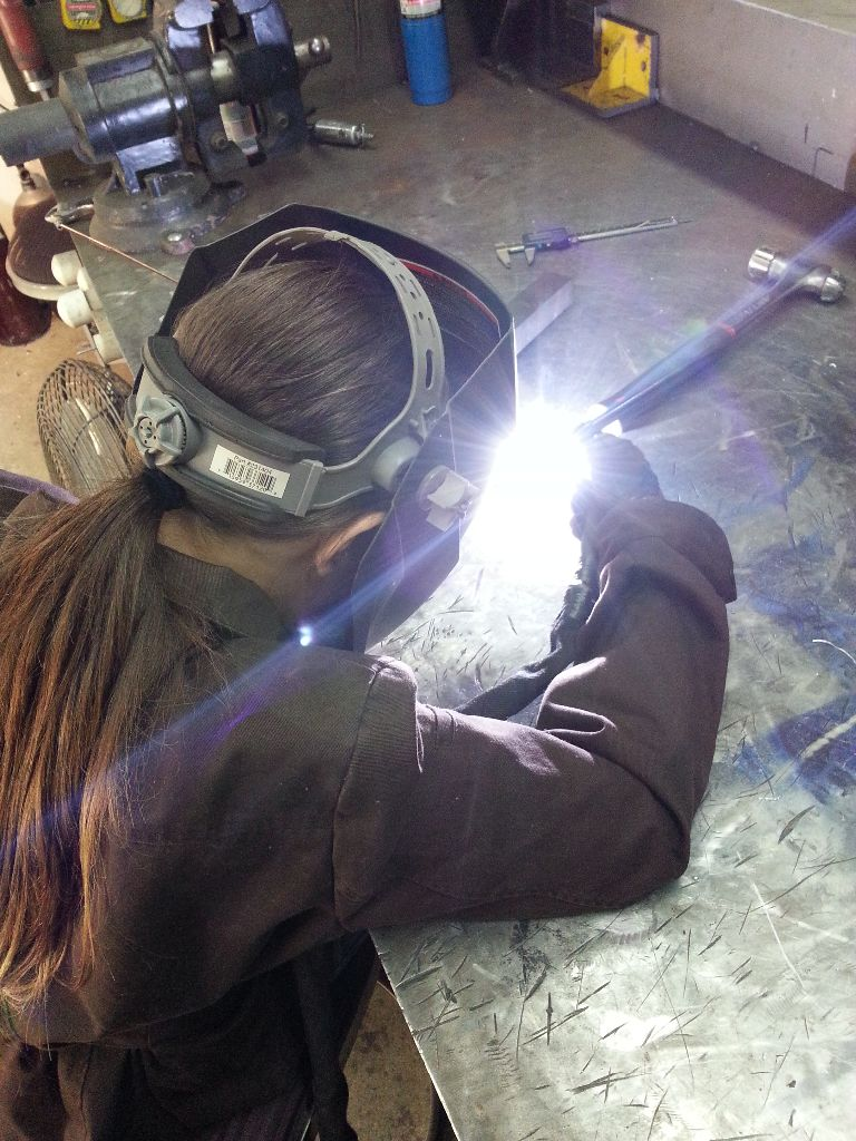 Desiree Velez welding
