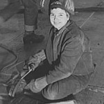Woman Welding for the War Effort