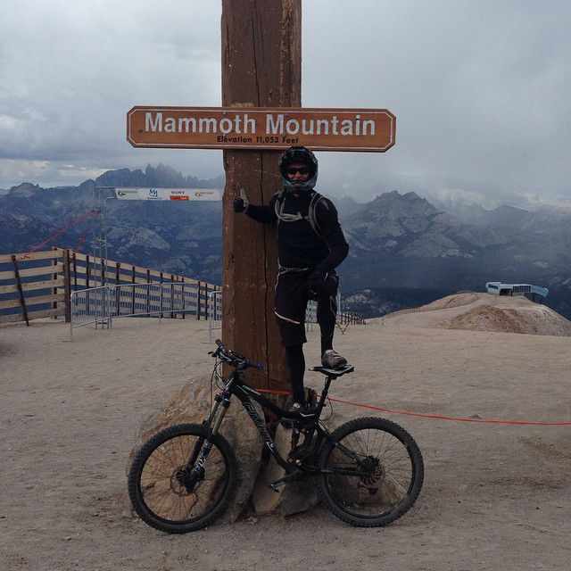 At the top of Mammoth Mountain!