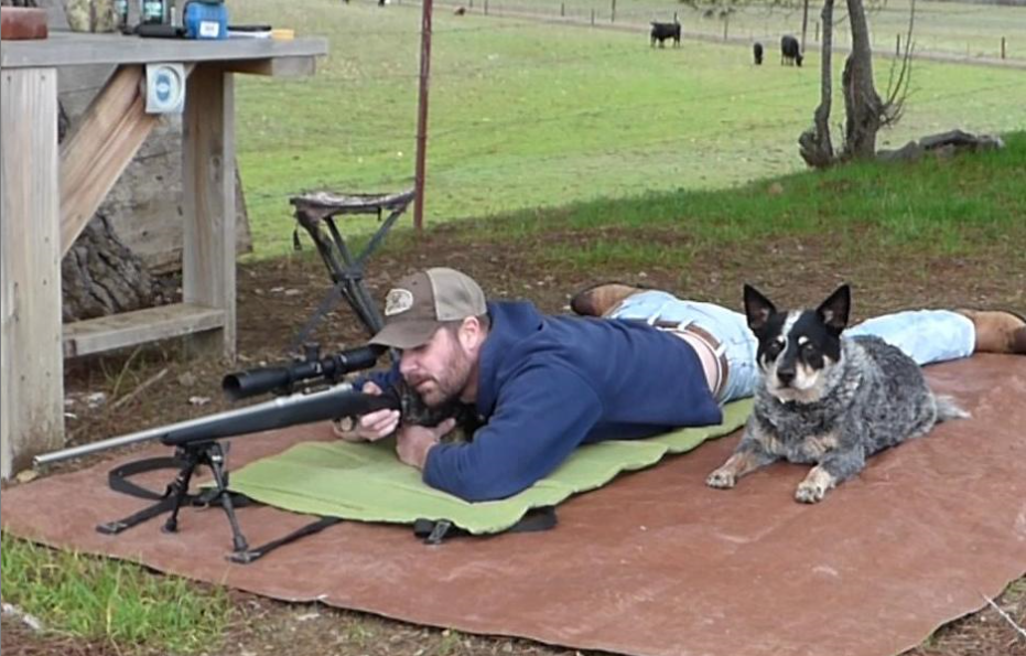 Dave Blackburn & his dog long-range shooting