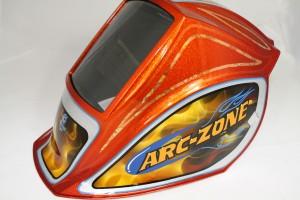 Arc-Zone Custom Painted Helmet
