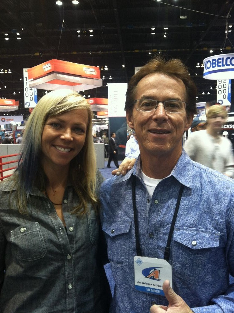 Photo of welding industry friend Jessi Combs and Jim Watson (aka Joe Welder)