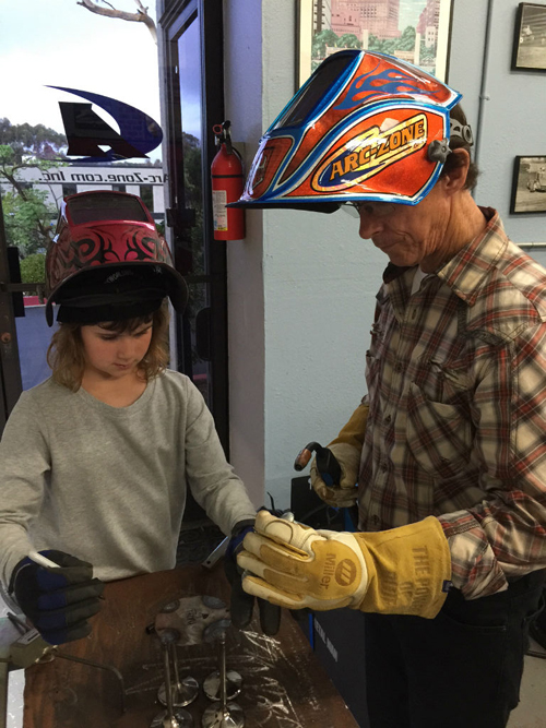Arc-Zone's youngest welder