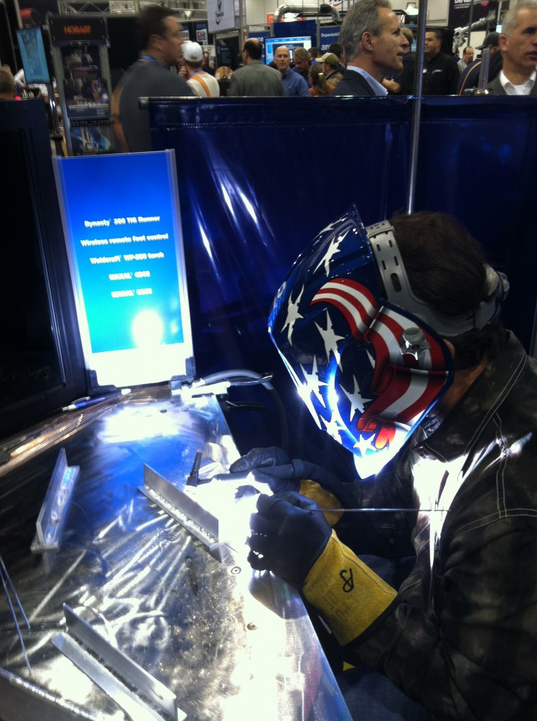 Jim Watson (AKA Joe Welder) TIG Welding Aluminum at Fabtech 2012 in Las Vegas, NV