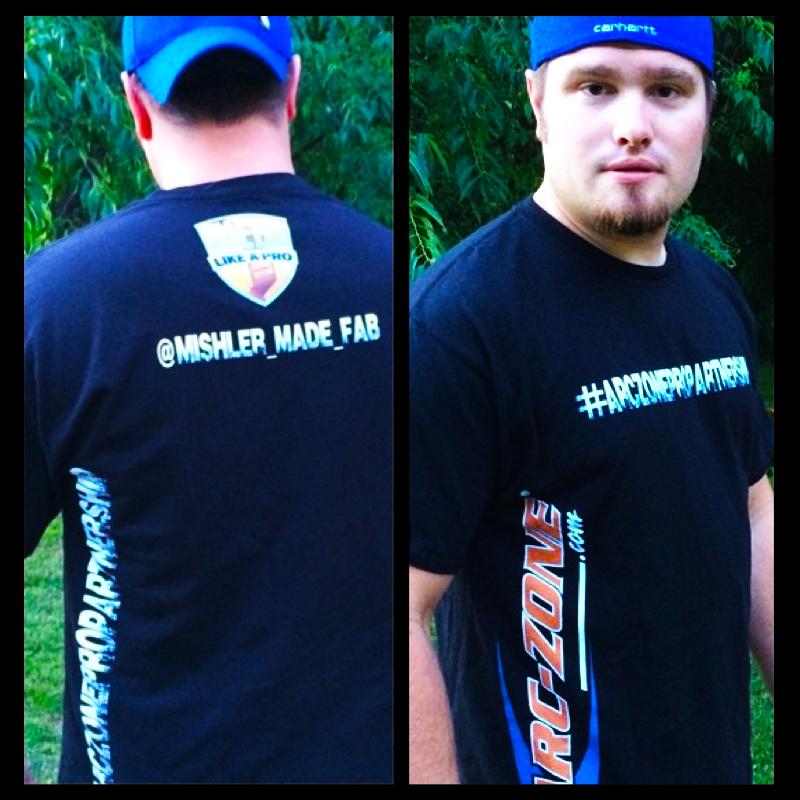 Nick Mishler @mishler_made_fab sporting the Arc-Zone Pro Partnership Tee