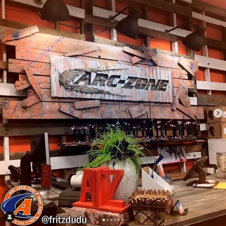 Arc-Zone Showroom TIG Torch Display