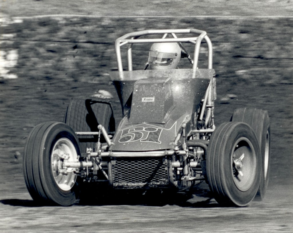 Jim Watson's #51 Roger Beck Sprint Car - Driven By Mike Sweeney at Ascot Park during the Pacific Coast Nationals in 1980