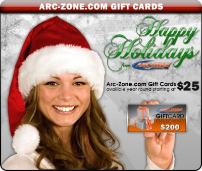 Arc-Zone Holiday Gift Cards For Welders
