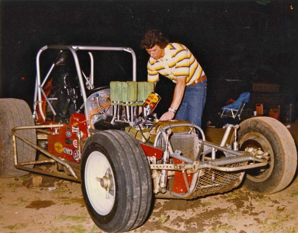 Jim Watson's #51 Roger Beck Designed CRA Sprint Car - That's me Tuning the Engine