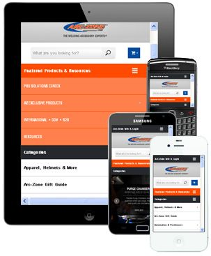 the arc-zone.com mobile website