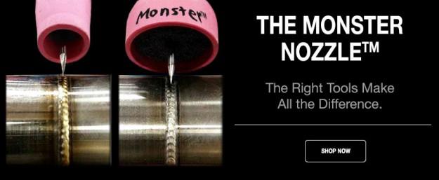 monster nozzle for TIG welding