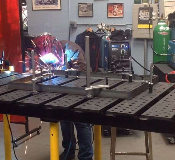 the BuildPro modular welding table