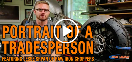 Jesse Srpan of Raw Iron Choppers - PORTRAIT OF A TRADESPERSON