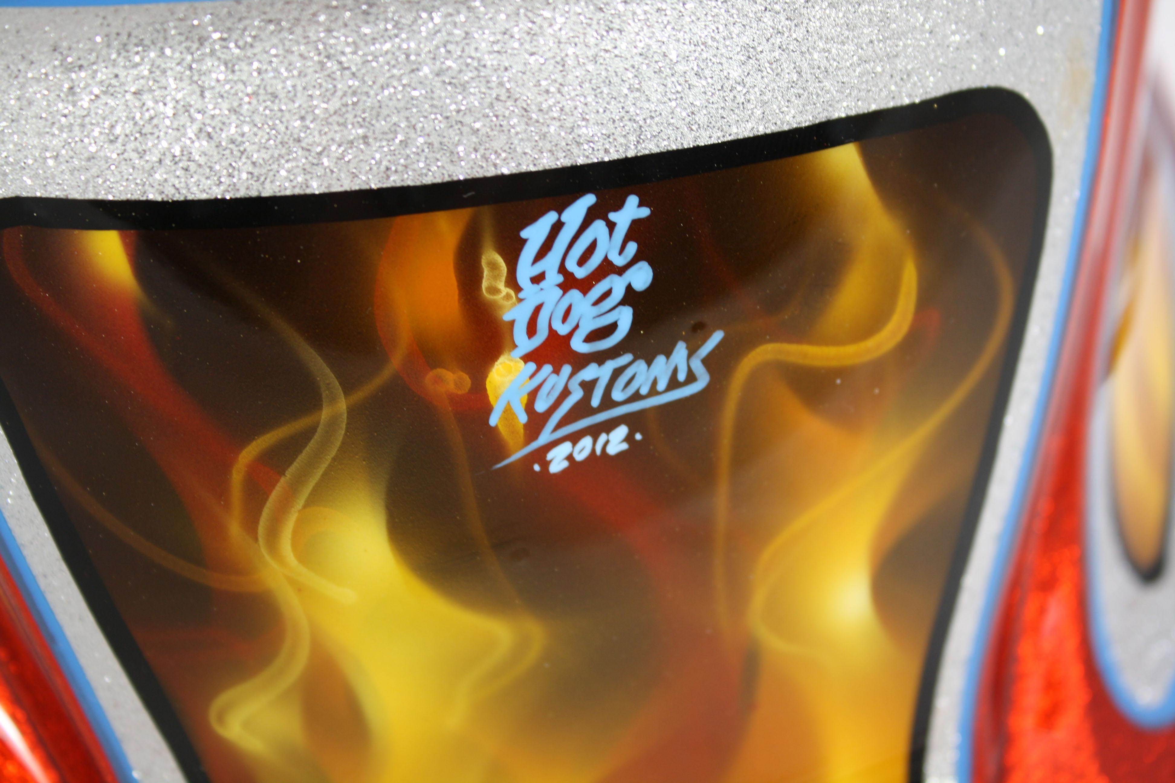 Hot Dog Kustoms Miller Welding Helmets for Arc-Zone